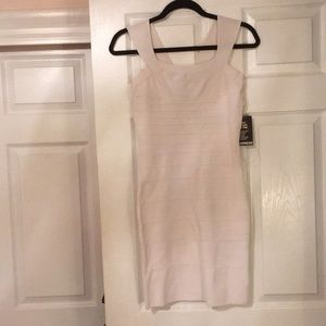 NWT Express white bandage dress
